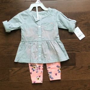 Carter's outfit 9 months NWT